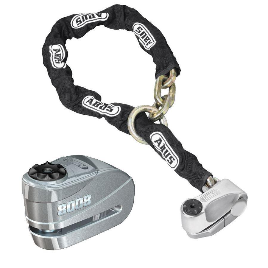 Abus 8008-12KS120 Motosiklet Zincir ve Alarmlı Disk Kilidi Seti