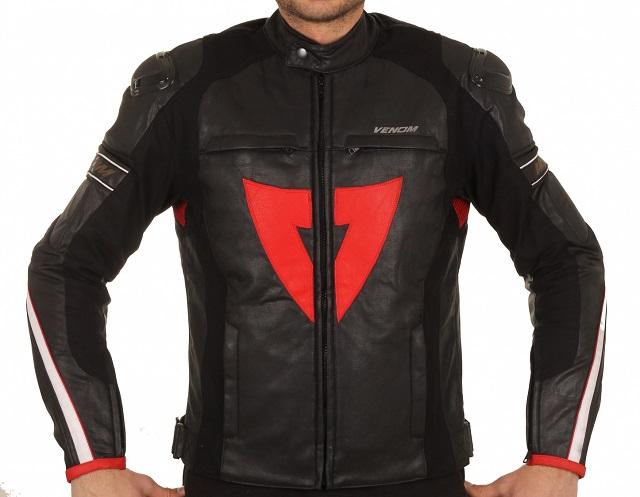 Venom D1 Racing Siyah Motosiklet Ceketi