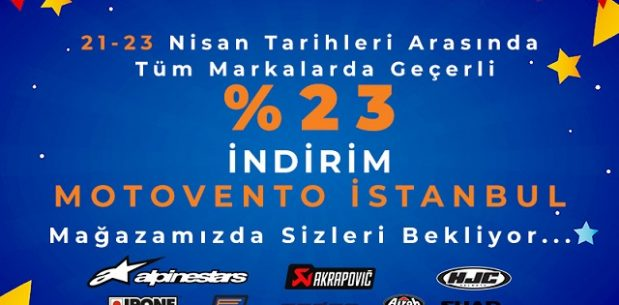Motovento İstanbul 23 Nisan İndirimi