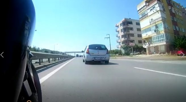 Kawasaki Z750 Selimpaşa yolu