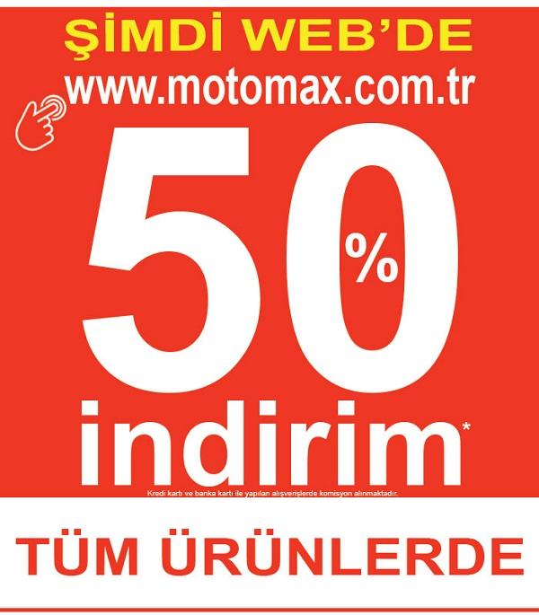 Motomax indirimleri Şimdi Web'te