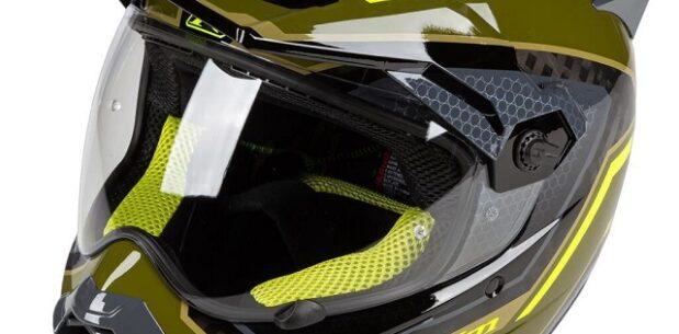 Klim Krios Pro Karbon Adv Motosiklet Kaski (Yesil/Sari)