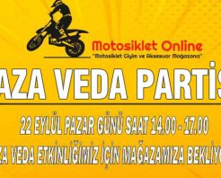 Motosiklet Online YAZA VEDA partisine davetlisiniz!